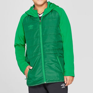 Umbro Boys' Insulated Full Zip Fleece Jacket Green